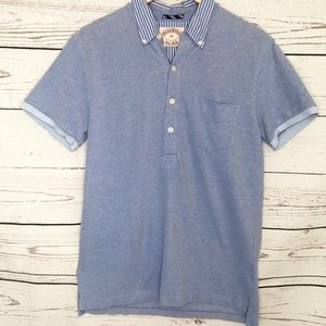 Brooks Brothers Blue Polo with striped Collar